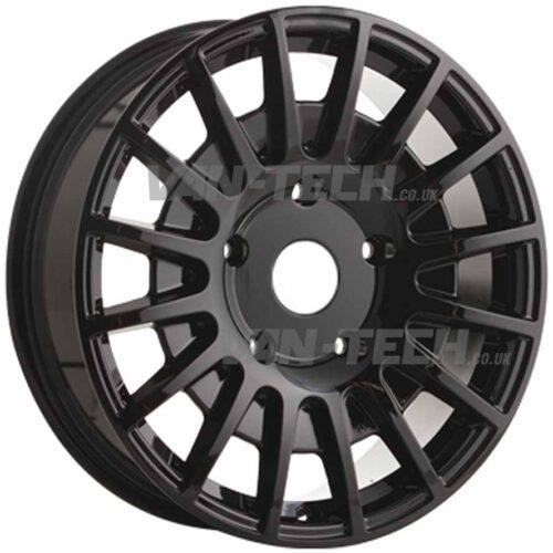 "JBW TMS Ford Transit Alloy Wheels Gloss Black 18"""