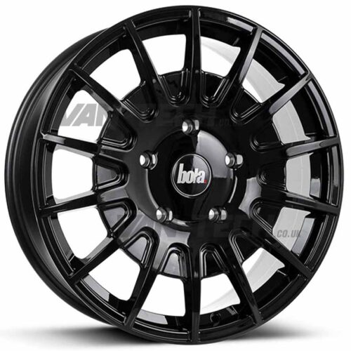 Bola B21 Alloy Wheels Ford Transit Gloss Black 20″