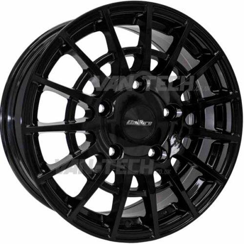 "Calibre T-Sport Ford Transit Alloy Wheels Gloss Black 18"""