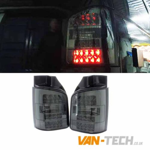 VW T5.1 LED Smoked Rear Lights Barn Door Only 2010 - 2015
