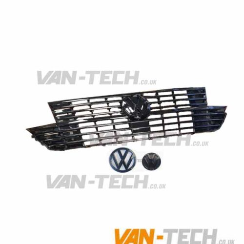 VW Transporter T6.1 Badged Grille GLOSS BLACK with Front and Rear Badges