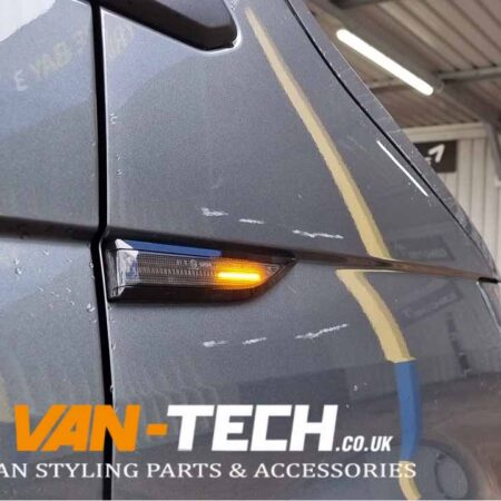 VW Transporter T6 Dynamic Side Repeater Smoked now back in stock