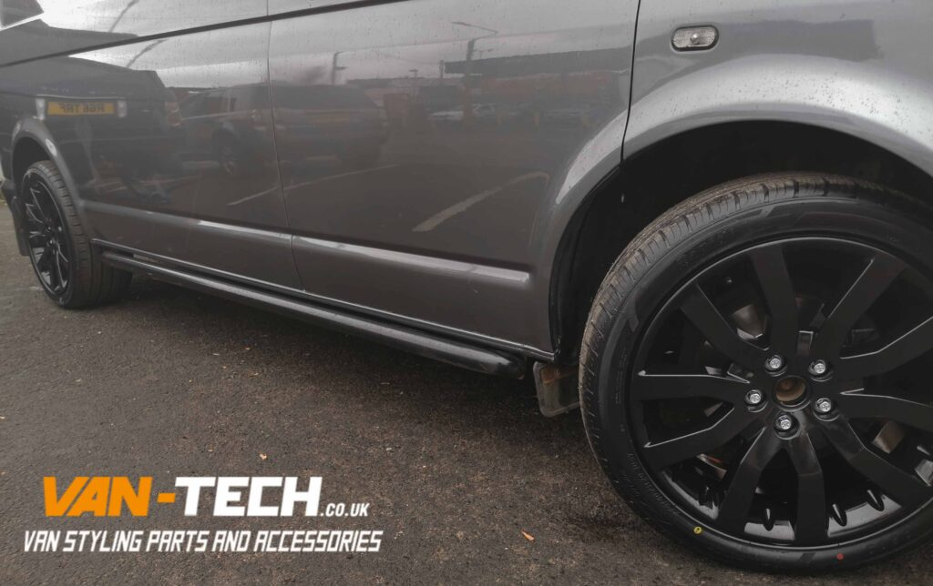 Alloy Wheel Conversion kit for fitting Range Rover Wheels on a VW Transporter T5.1