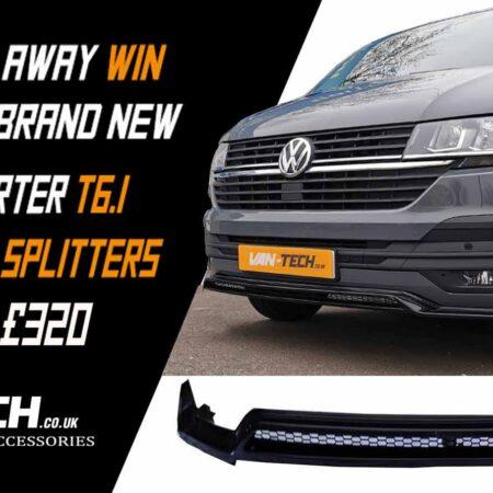 Van-Tech VW Transporter T6.1 Front Lower Splitter Prize Give Away