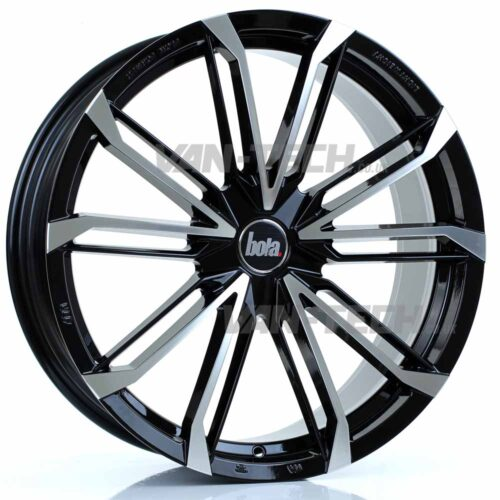 """VW T5 T5.1 T6 Bola B23 20"""" Alloy Wheels Black and Polished"""