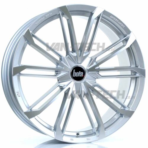 """VW T5 T5.1 T6 Bola B23 20"""" Alloy Wheels Silver and Polished"""