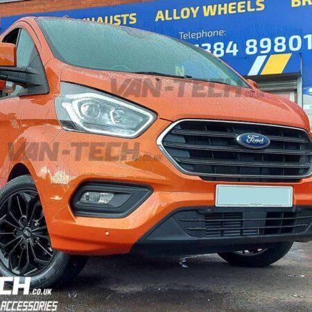 """Ford Transit Custom Alloy Wheels JBW FST 18"""" Gloss Black"""
