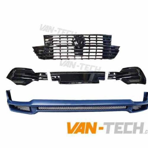 VW T6.1 Badged Grille, Lower Bumper Inserts and Front Bumper Extension