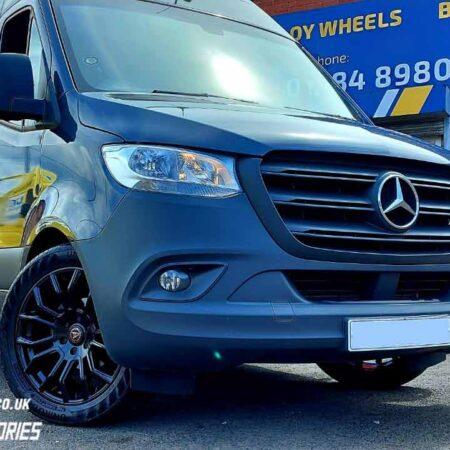 "Wolfrace Evoke-X Alloy Wheels 20"" and Uniroyal Rainsport 5 Tyres for Mercedes Sprinter"