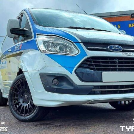 "JBW TMS Black 18"" Alloy Wheels Ford Transit Van"